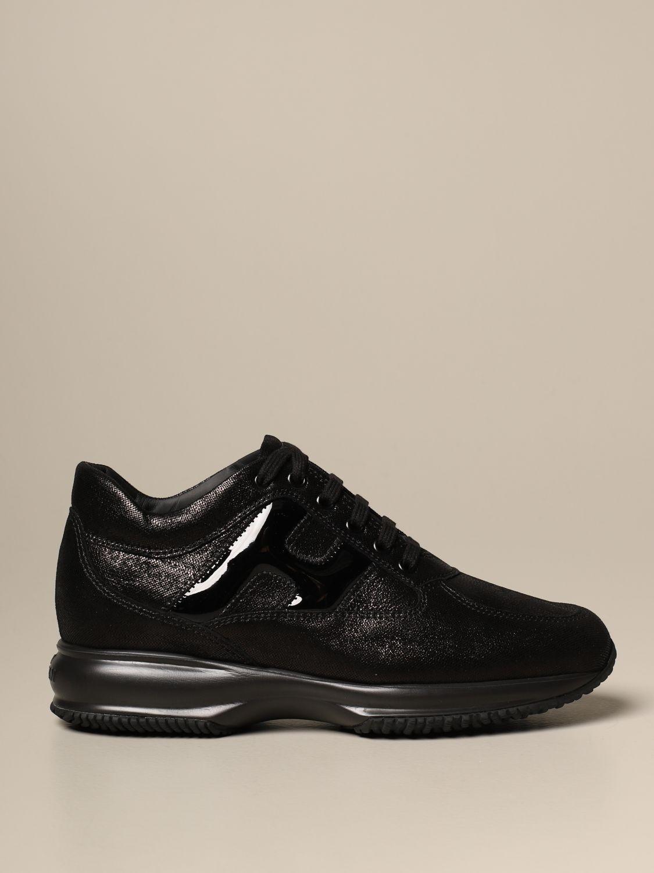 Interactive Hogan satin leather sneakers