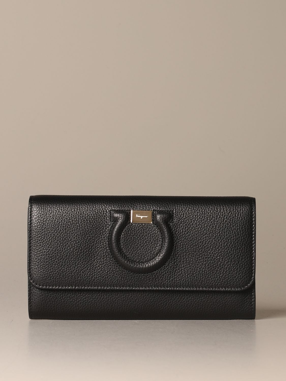 Mini bag Salvatore Ferragamo: Salvatore Ferragamo Gancini textured leather bag black 1