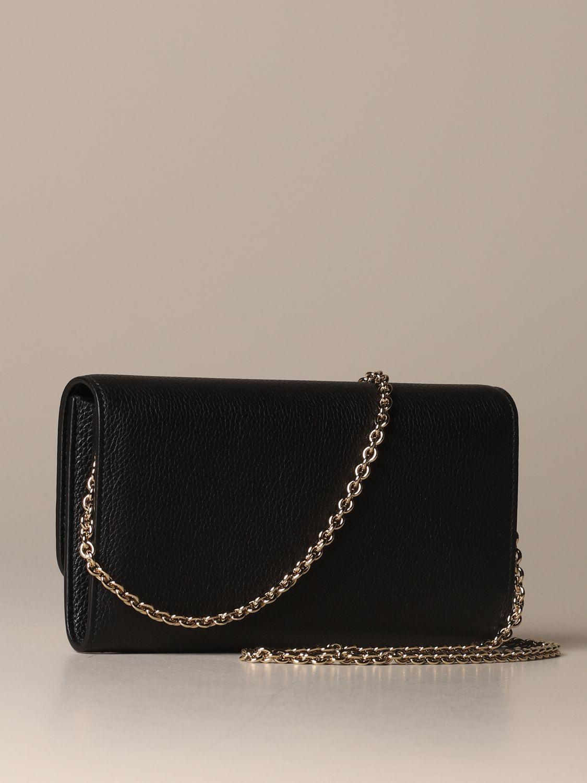 Mini bag Salvatore Ferragamo: Salvatore Ferragamo Gancini textured leather bag black 3