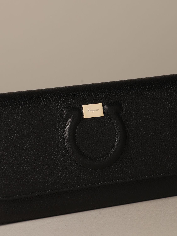 Mini bag Salvatore Ferragamo: Salvatore Ferragamo Gancini textured leather bag black 4