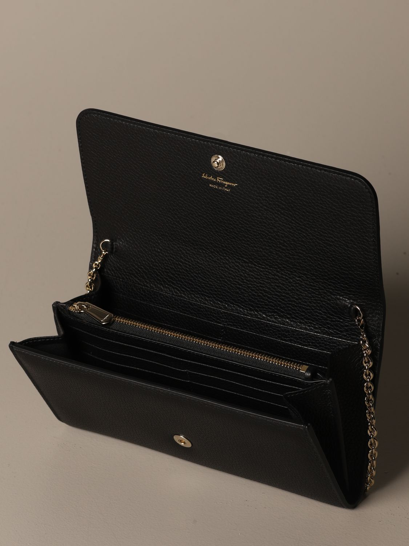 Mini bag Salvatore Ferragamo: Salvatore Ferragamo Gancini textured leather bag black 5