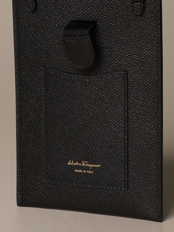 Mini bag Salvatore Ferragamo: Gancini Salvatore Ferragamo leather phone pouch black 5