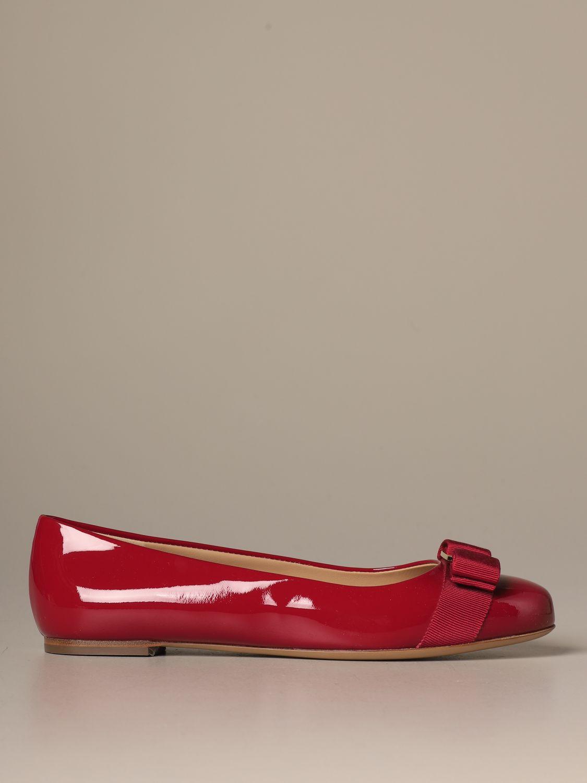 Manoletinas Salvatore Ferragamo: Zapatos mujer Salvatore Ferragamo rojo 1