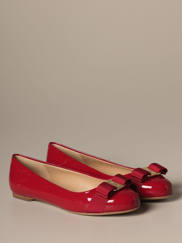 Manoletinas Salvatore Ferragamo: Zapatos mujer Salvatore Ferragamo rojo 2