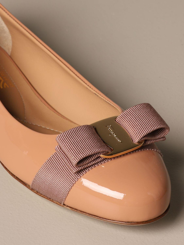 Manoletinas Salvatore Ferragamo: Zapatos mujer Salvatore Ferragamo rosa pálido 4