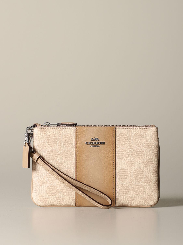 Mini bag Coach: Mini bag women Coach beige 1