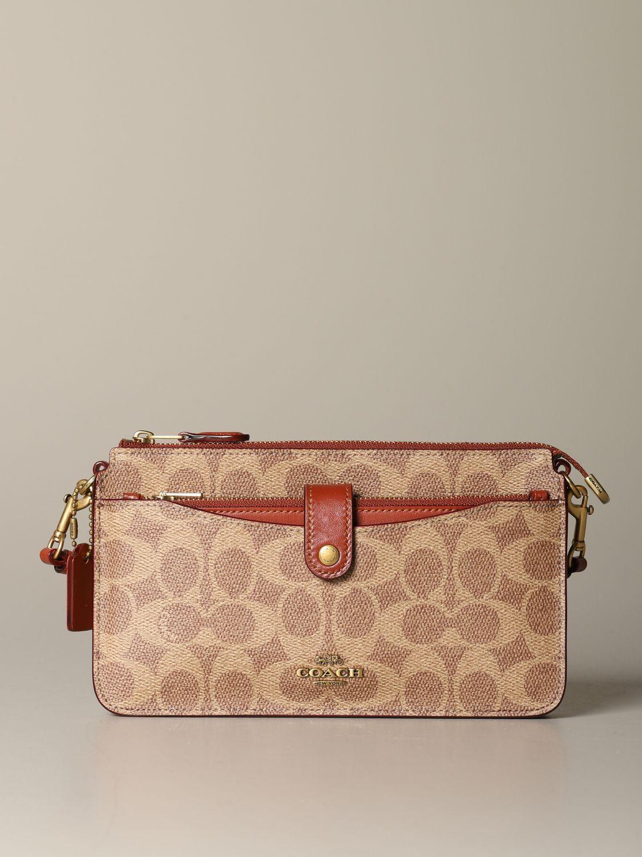 Mini sac à main Coach: Mini sac à main femme Coach cuir 1