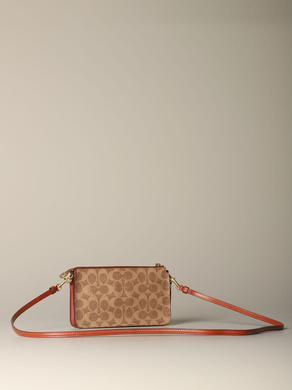 Mini sac à main Coach: Mini sac à main femme Coach cuir 2