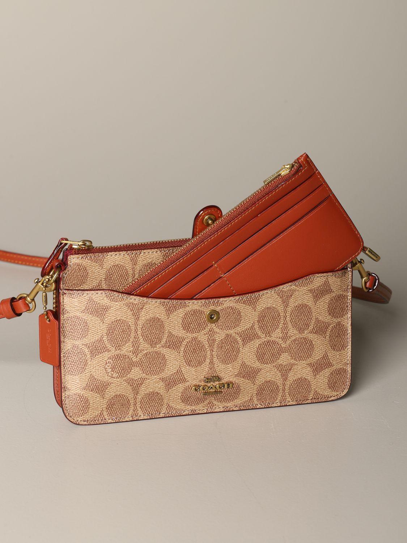Mini sac à main Coach: Mini sac à main femme Coach cuir 3