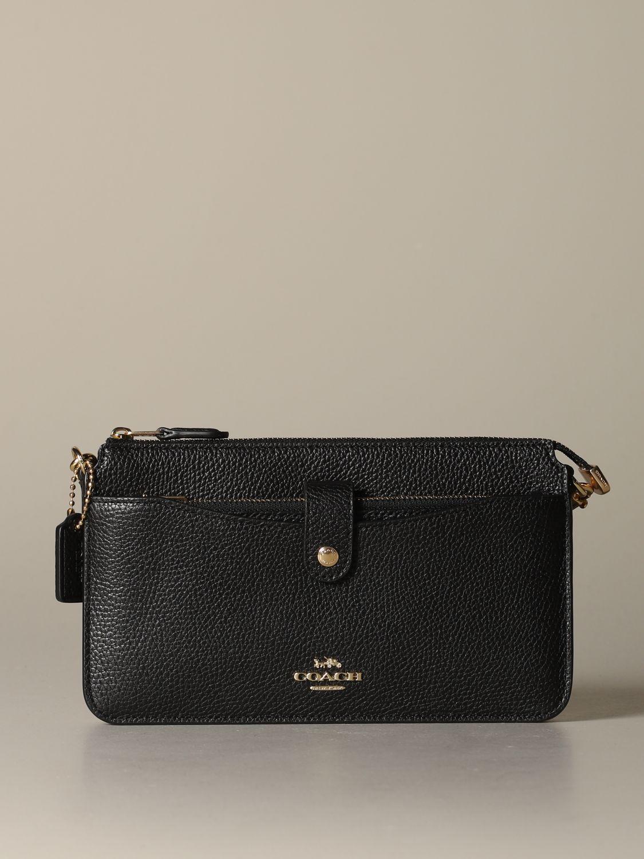 Mini sac à main Coach: Mini sac à main femme Coach noir 1