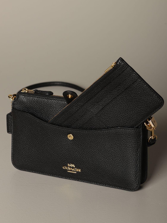 Mini sac à main Coach: Mini sac à main femme Coach noir 3
