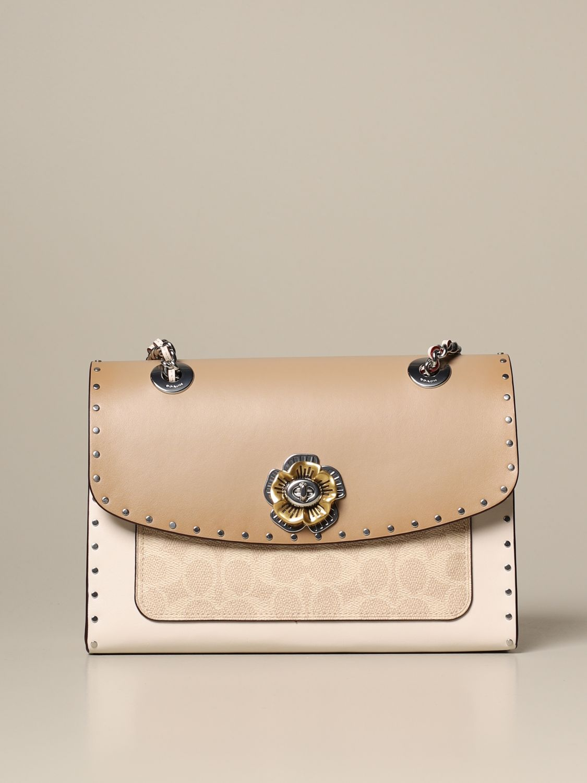 Shoulder bag Coach: Shoulder bag women Coach beige 1