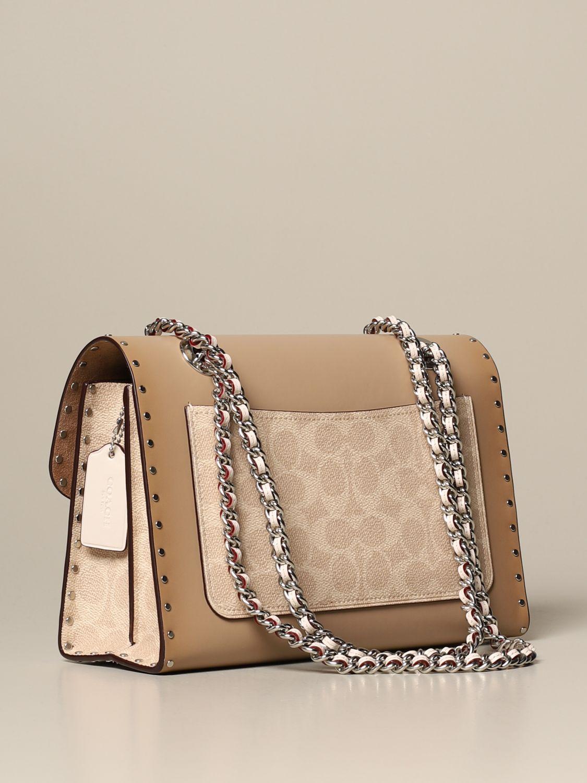 Shoulder bag Coach: Shoulder bag women Coach beige 2