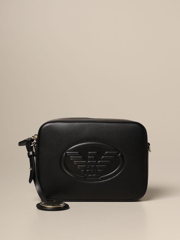 Mini bag Emporio Armani: Emporio Armani shoulder bag with embossed logo black 1