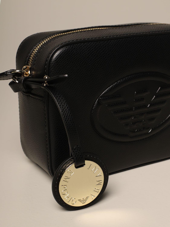 Mini bag Emporio Armani: Emporio Armani shoulder bag with embossed logo black 2