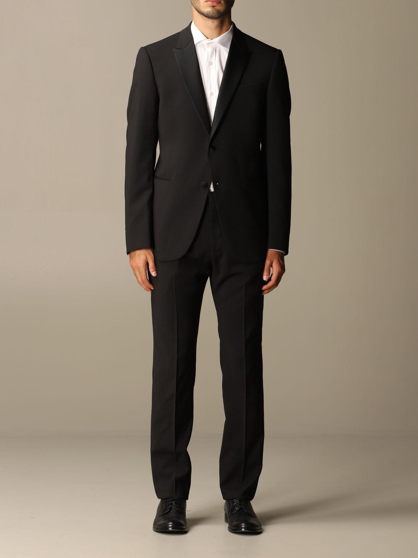 Suit Emporio Armani: Emporio Armani tuxedo dress in virgin wool drop 7 black 1