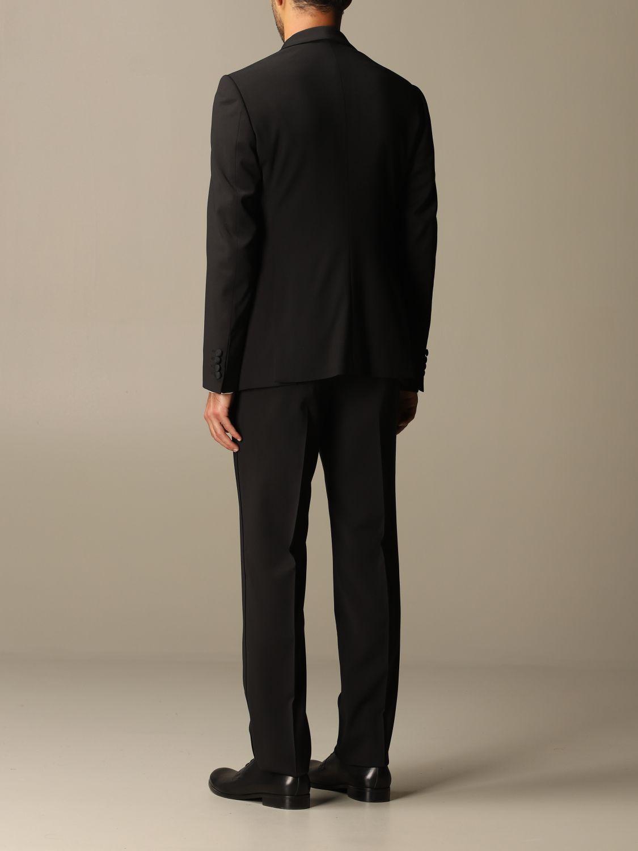 Suit Emporio Armani: Emporio Armani tuxedo dress in virgin wool drop 7 black 3
