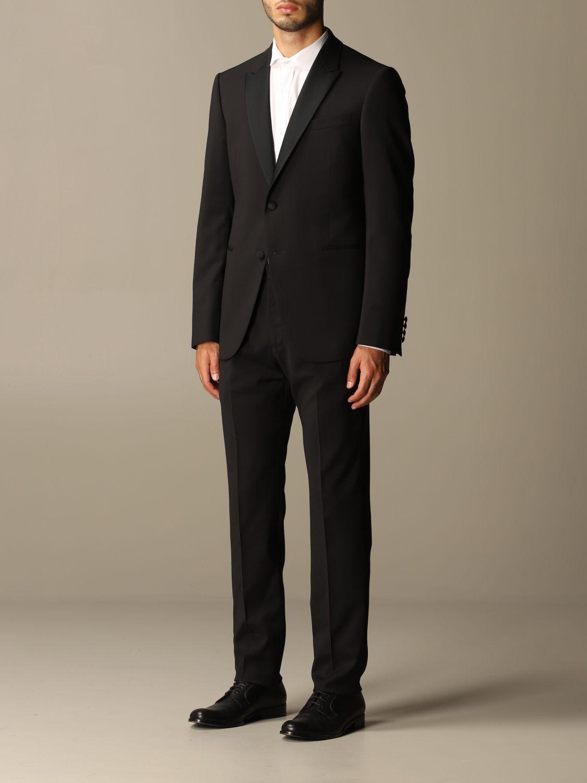 Suit Emporio Armani: Emporio Armani tuxedo dress in virgin wool drop 7 black 4