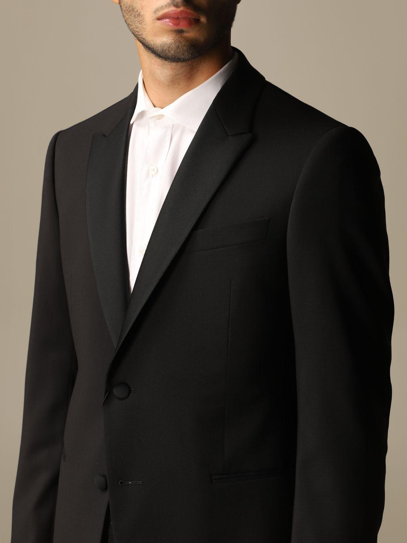 Suit Emporio Armani: Emporio Armani tuxedo dress in virgin wool drop 7 black 6