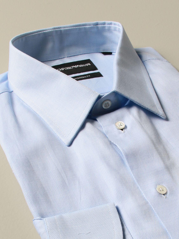Shirt Emporio Armani: Shirt men Emporio Armani gnawed blue 2