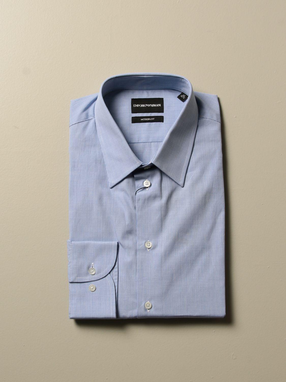 Shirt Emporio Armani: Shirt men Emporio Armani gnawed blue 1