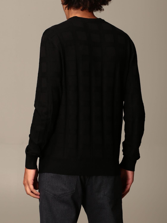 Sweater Emporio Armani: Emporio Armani sweater in checked viscose blend black 2