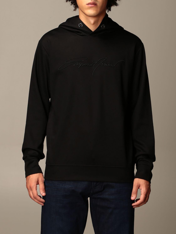 Sweatshirt Emporio Armani: Sweatshirt herren Emporio Armani schwarz 1