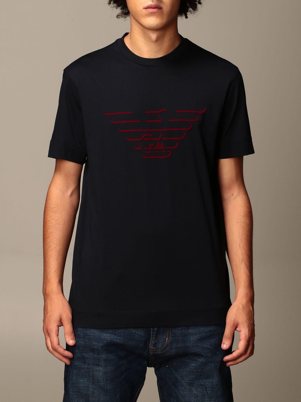 T-Shirt Emporio Armani: T-shirt herren Emporio Armani blau 1