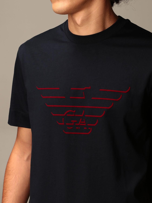 T-Shirt Emporio Armani: T-shirt herren Emporio Armani blau 3
