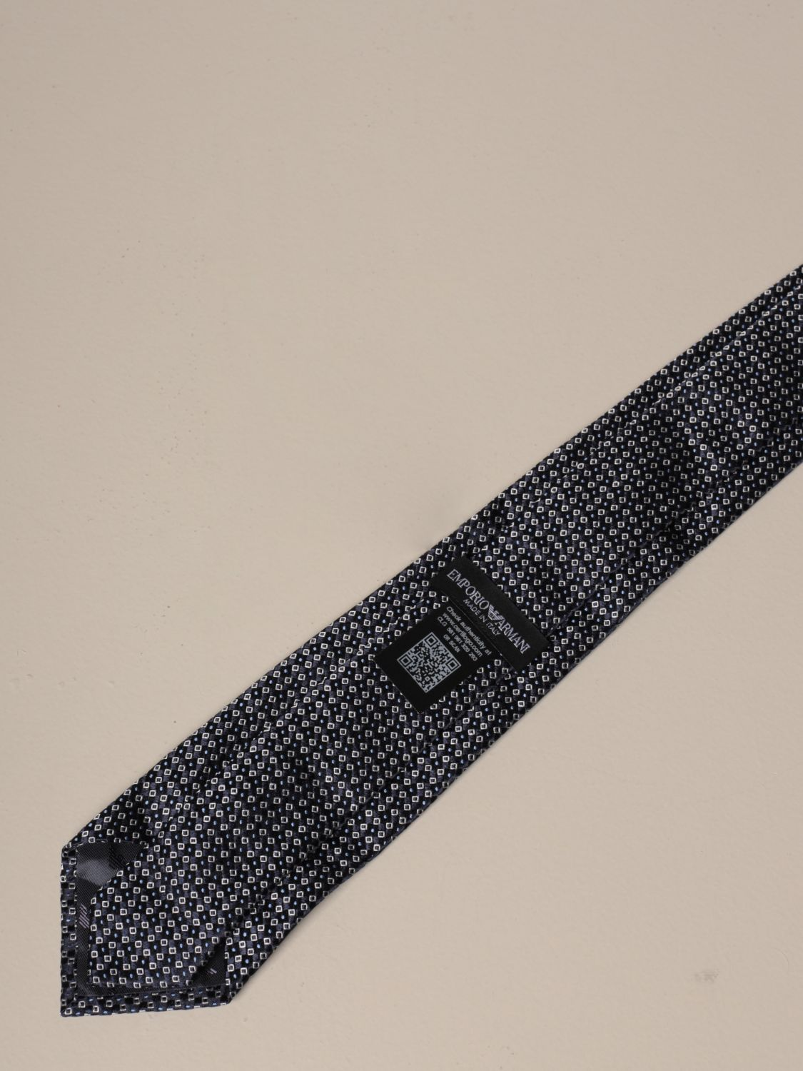 Tie Emporio Armani: Emporio Armani tie in patterned silk blue 2