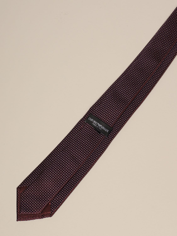 Krawatte Emporio Armani: Krawatte herren Emporio Armani burgunderrot 2
