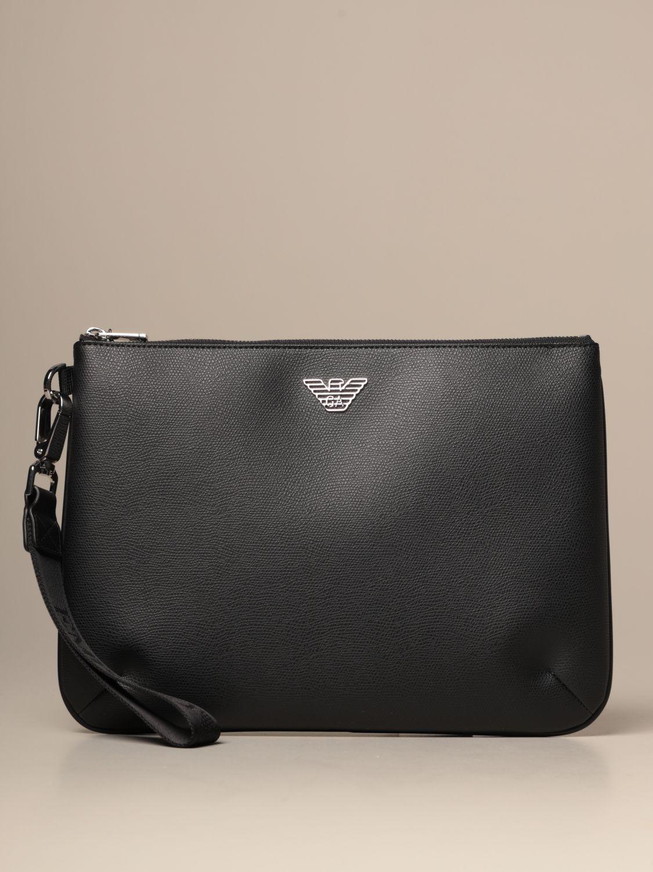 Briefcase Emporio Armani: Bags men Emporio Armani black 1