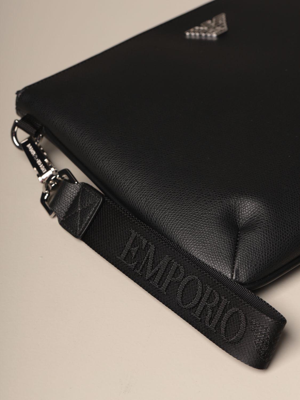Briefcase Emporio Armani: Bags men Emporio Armani black 3
