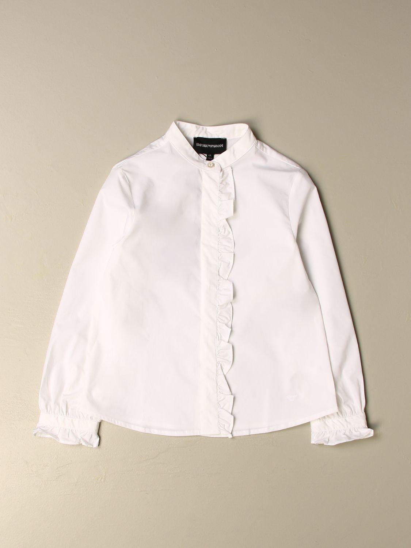 Camisa Emporio Armani: Camisa niños Emporio Armani blanco 1