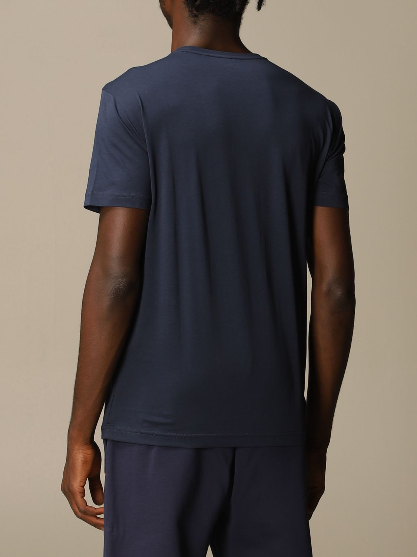 T-shirt Ea7: EA7 cotton t-shirt with printed logo blue 3