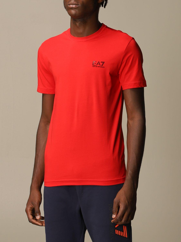 T-Shirt Ea7: T-shirt herren Ea7 rot 3