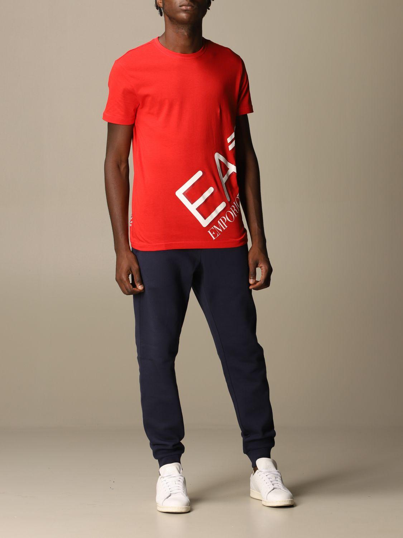 T-Shirt Ea7: T-shirt herren Ea7 rot 2