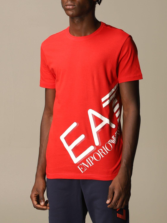 T-Shirt Ea7: T-shirt herren Ea7 rot 4
