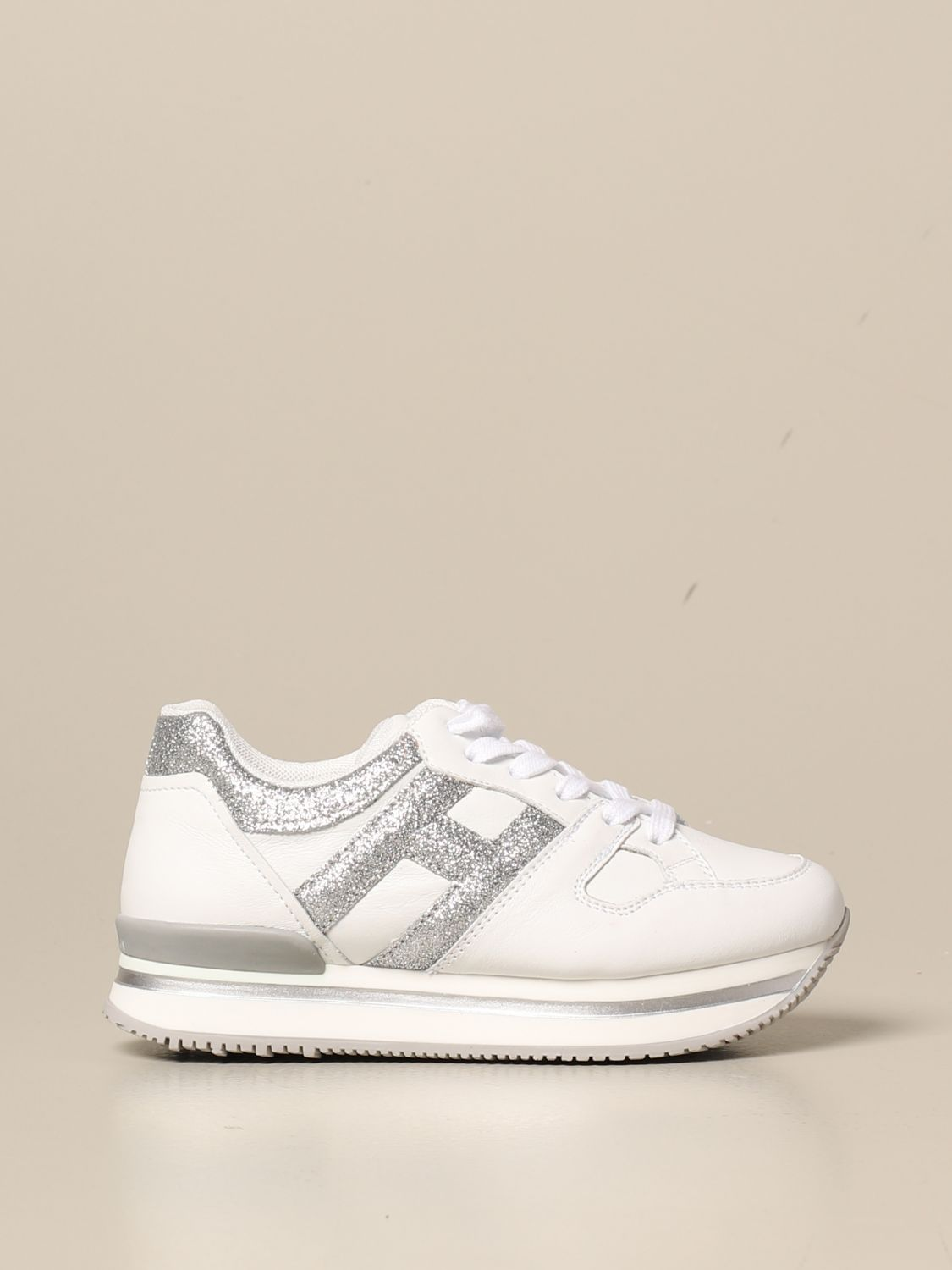 H222 Hogan sneakers in leather and glitter