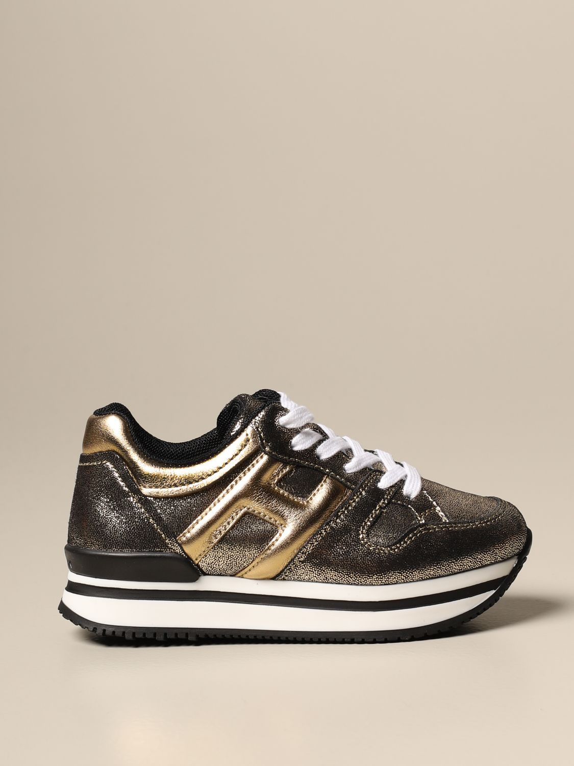 H222 Hogan laminated leather sneakers