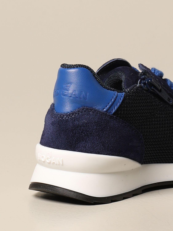 R261 Hogan Baby running sneakers in suede and mesh
