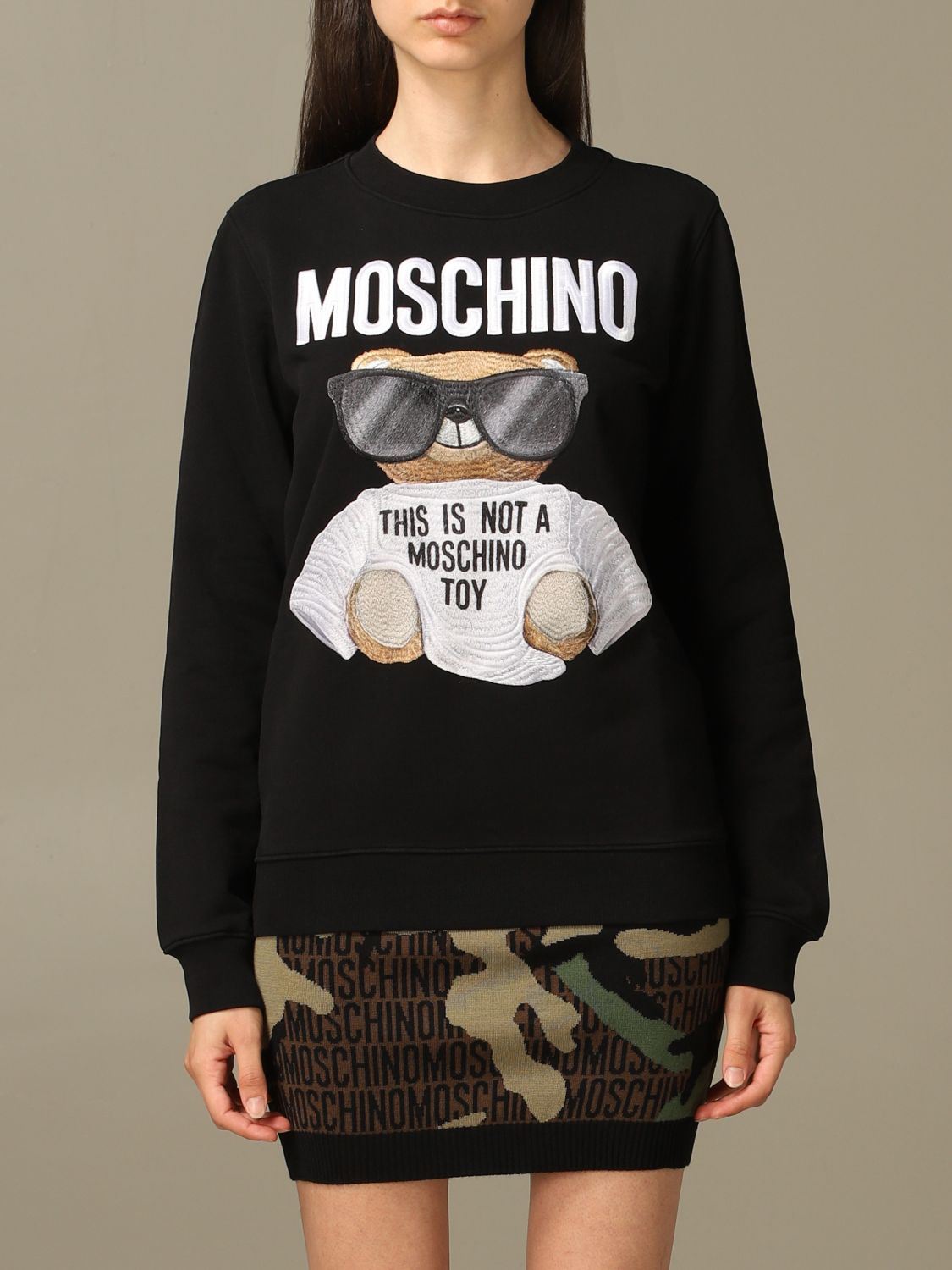 Sweatshirt Moschino Couture: Moschino Couture sweatshirt with Teddy Bear patch black 1
