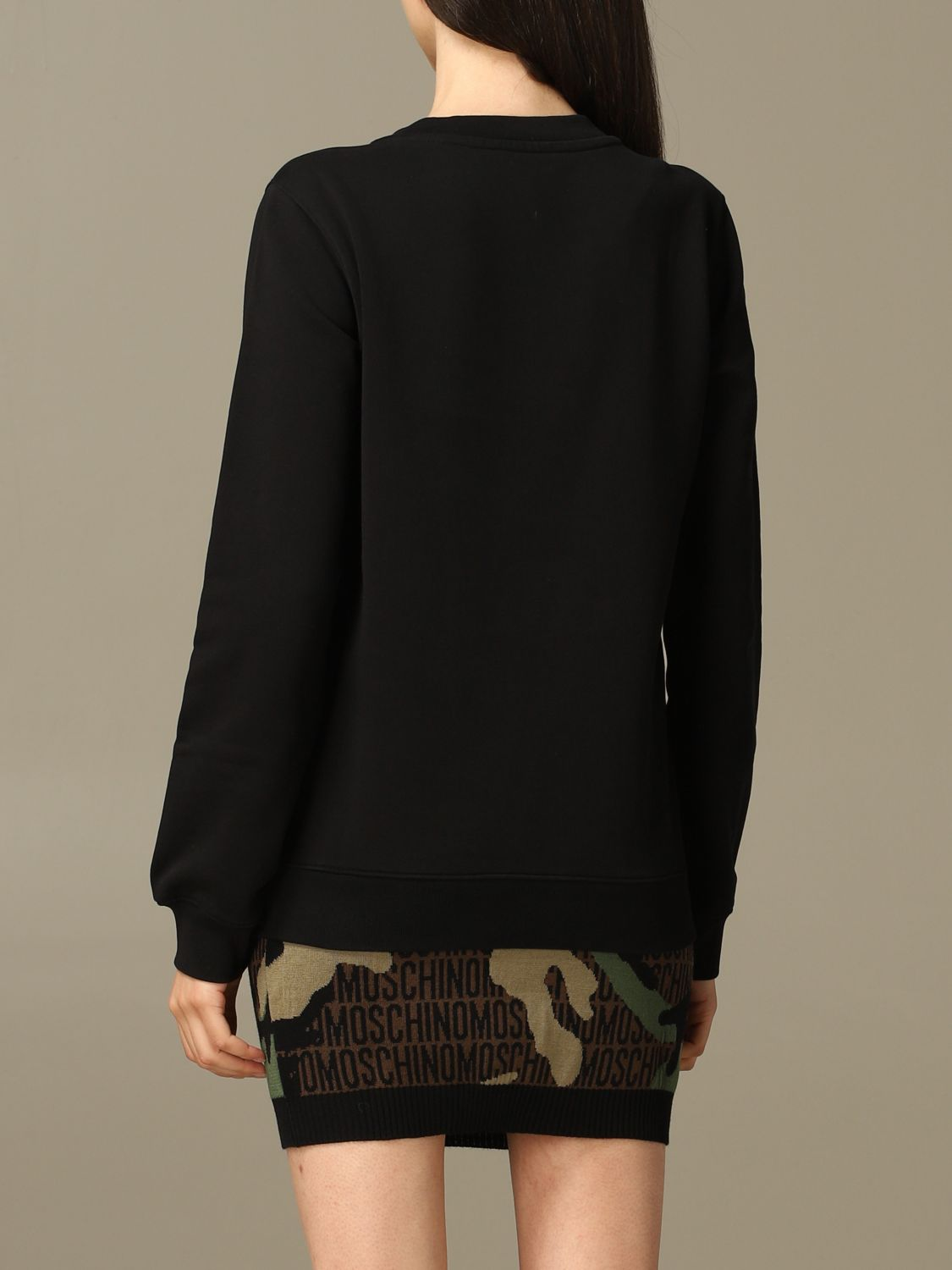 Sweatshirt Moschino Couture: Moschino Couture sweatshirt with Teddy Bear patch black 3