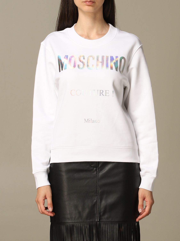 Sweatshirt Moschino Couture: Moschino Couture sweatshirt with mirror print white 1