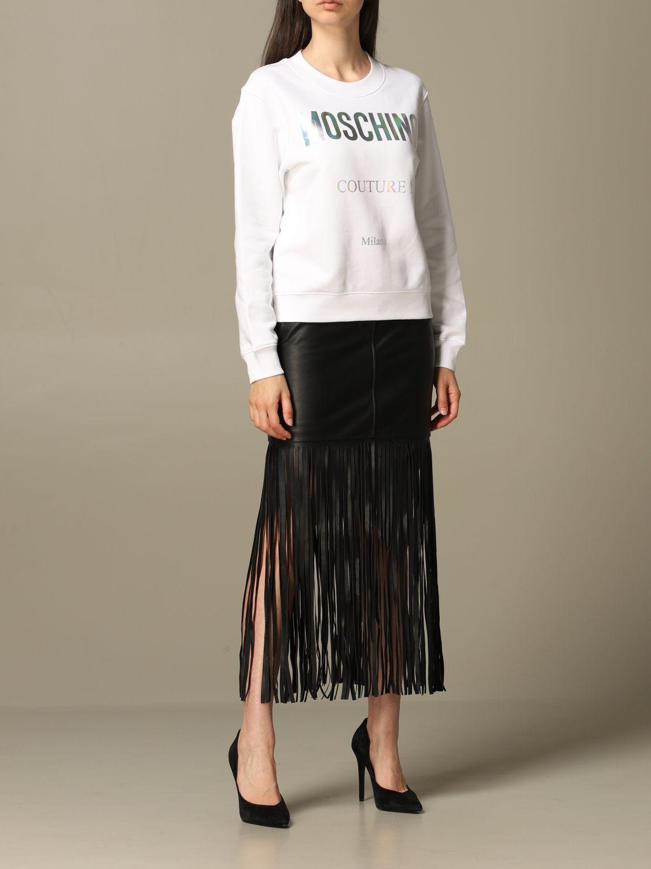 Sweatshirt Moschino Couture: Moschino Couture sweatshirt with mirror print white 2