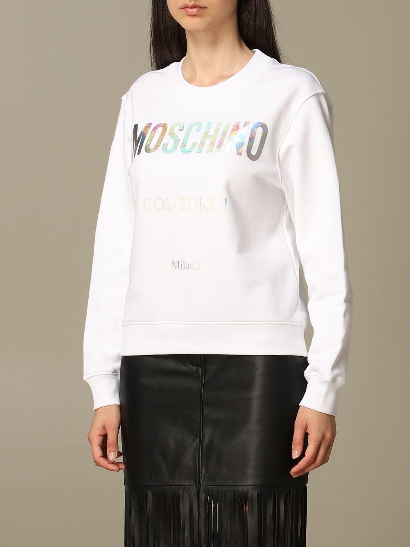 Sweatshirt Moschino Couture: Moschino Couture sweatshirt with mirror print white 4
