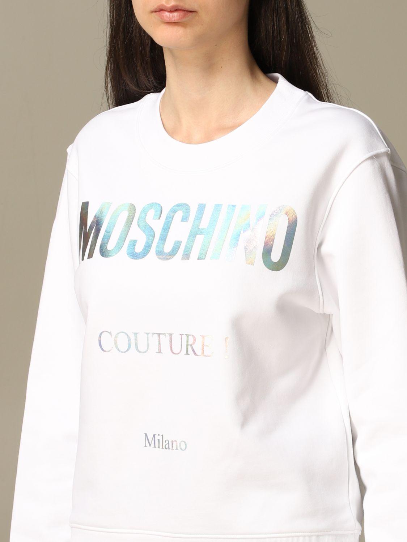 Sweatshirt Moschino Couture: Moschino Couture sweatshirt with mirror print white 5