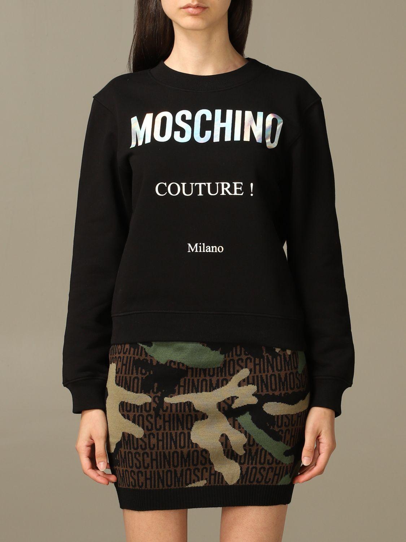 Sweatshirt Moschino Couture: Moschino Couture sweatshirt with mirror print black 1