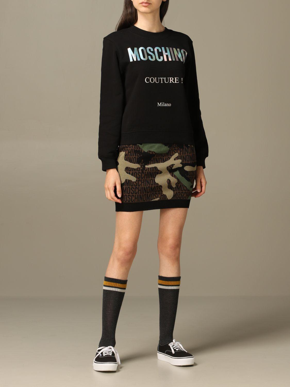 Sweatshirt Moschino Couture: Moschino Couture sweatshirt with mirror print black 2