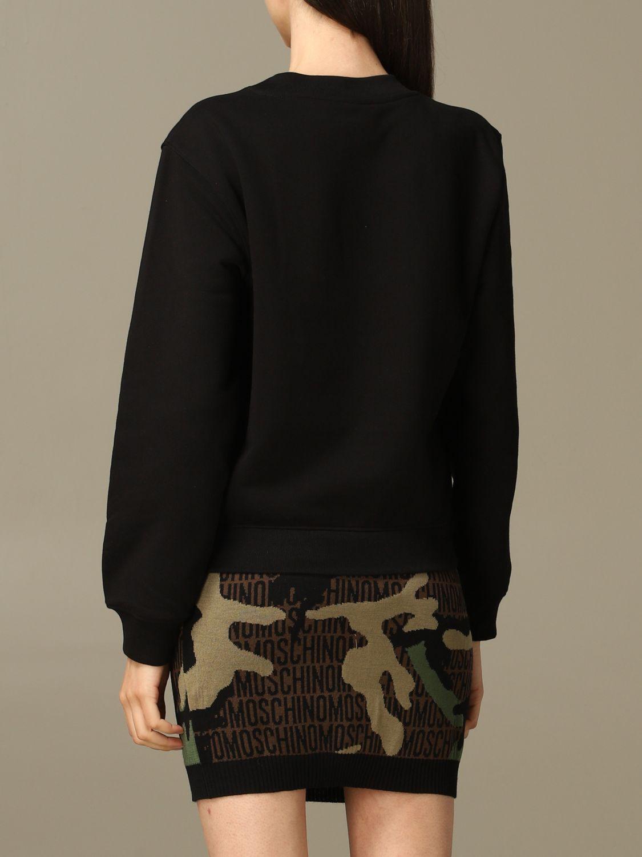 Sweatshirt Moschino Couture: Moschino Couture sweatshirt with mirror print black 3